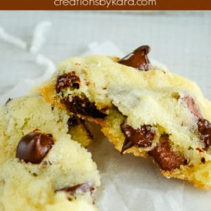 chocolate chip coconut cookies pinterest pin
