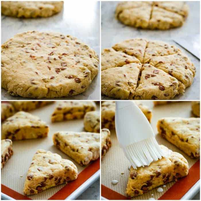how to cut and bake scones