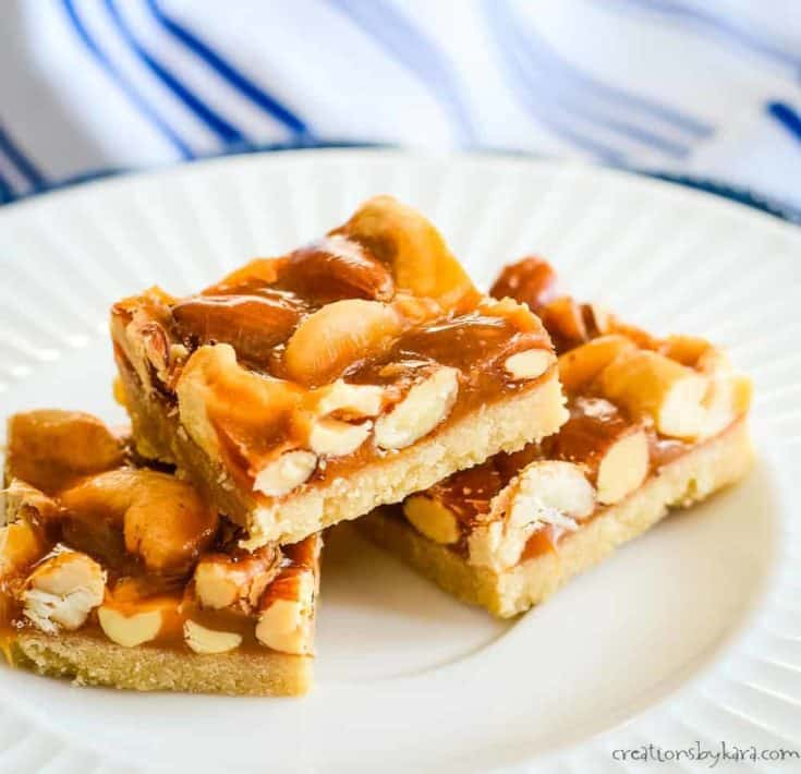 Mixed Nut Bars with Butterscotch