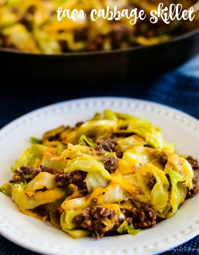 taco cabbage skillet title photo