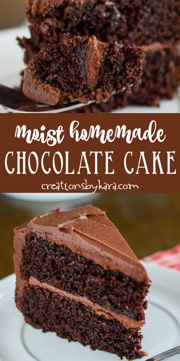 moist homemade chocolate cake recipe collage
