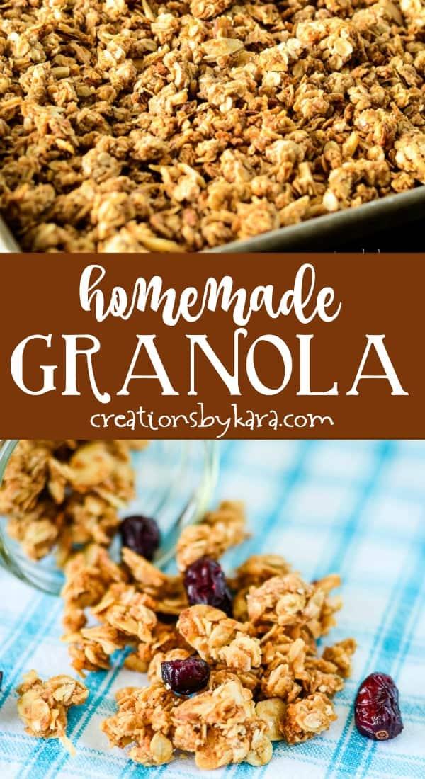 homemade granola recipe collage