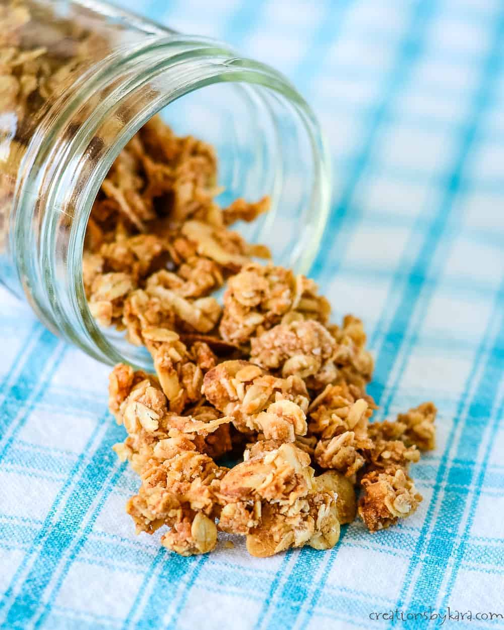granola with sliced almonds and coconut