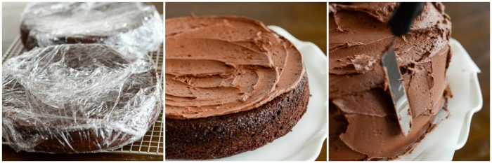 tips for frosting chocolate layer cake