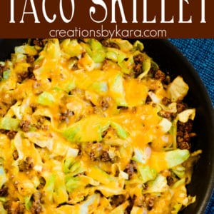 cabbage taco skillet Pinterest Pin