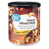 Great Value Deluxe Mixed Nuts, Lightly Salted, 15.25 Oz