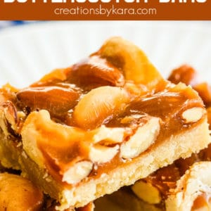 butterscotch mixed nut bars recipe pinterest pin
