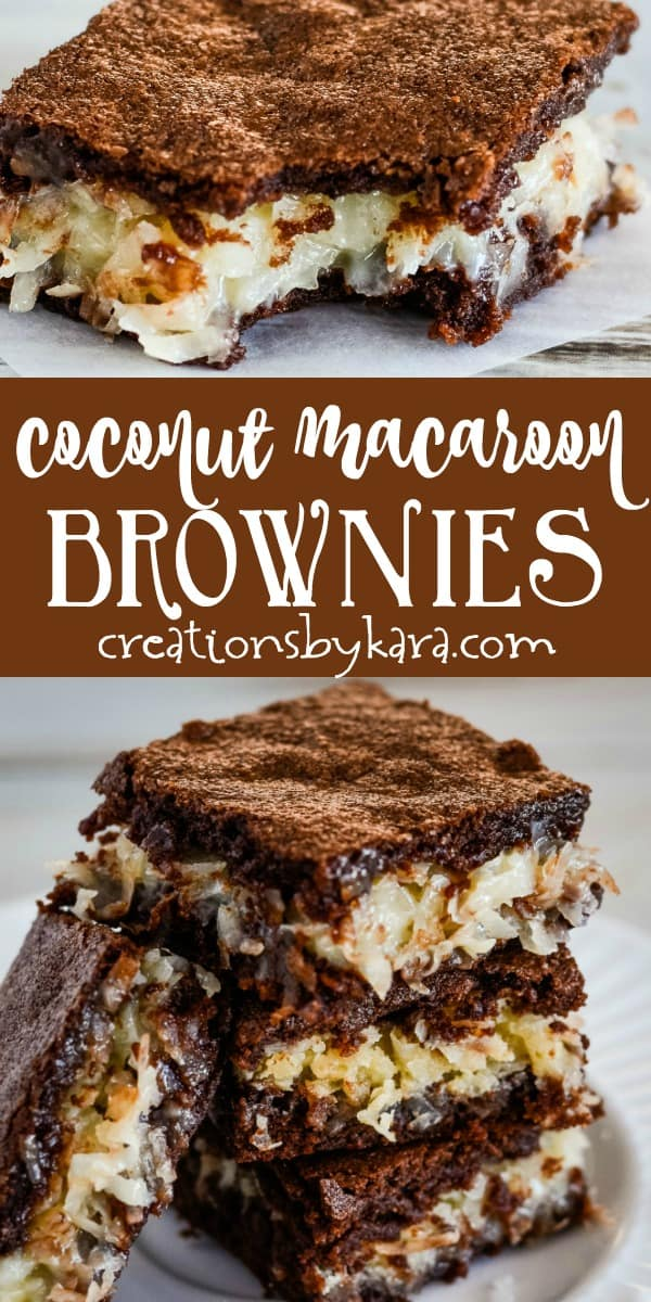 coconut brownies recipe collage