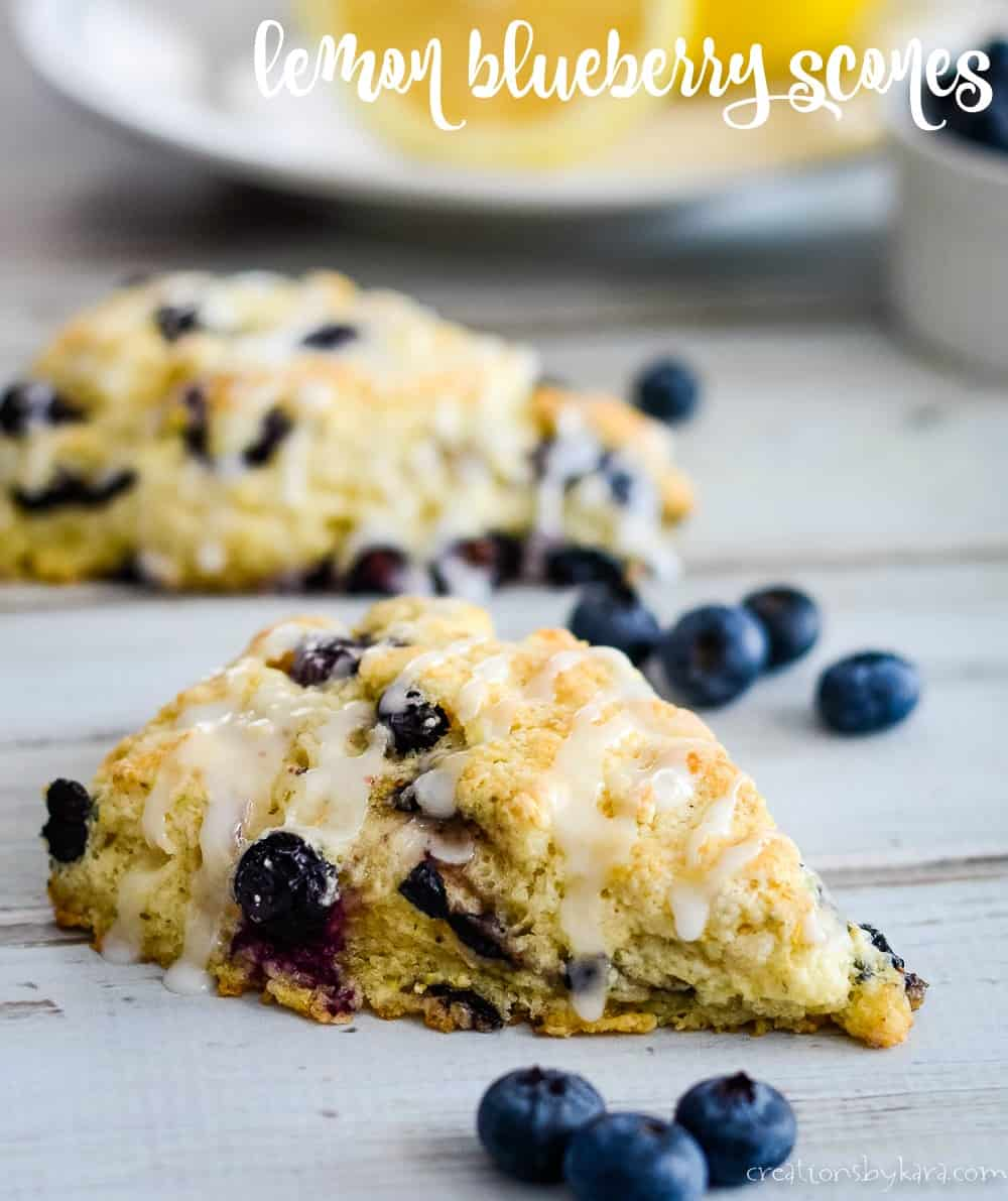 lemon blueberry scones title photo