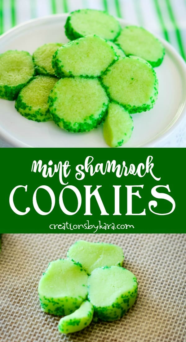 green shamrock cookies recipe collage