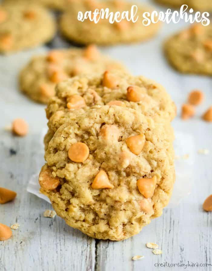 butterscotch oatmeal cookies title photo