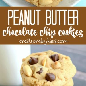 peanut butter chocolate chip cookies recipe collage