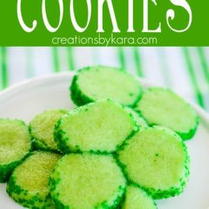 shamrock cookies Pinterest Pin