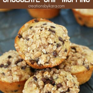 toasted oatmeal chocolate chip muffins pinterest pin