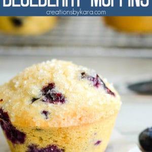 whole wheat blueberry muffins recipe Pinterest Pin