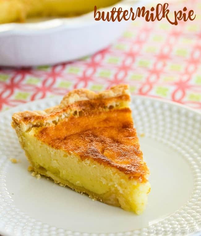 buttermilk pie recipe title photo
