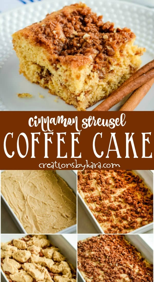 cinnamon crumb coffee cake recipe collage
