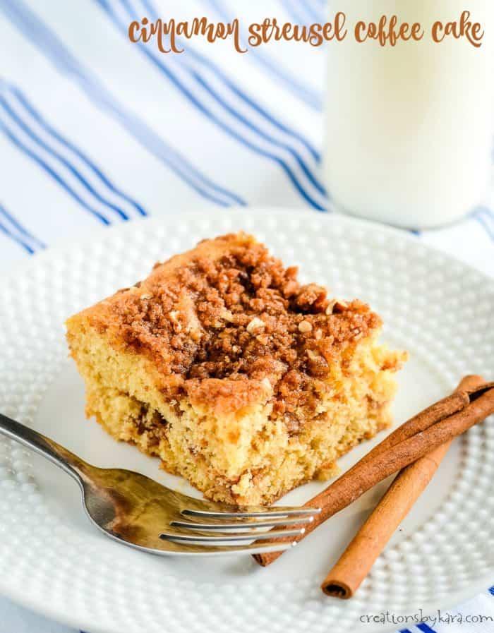 cinnamon streusel coffee cake title photo