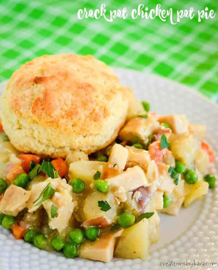slow cooker chicken pot pie title photo