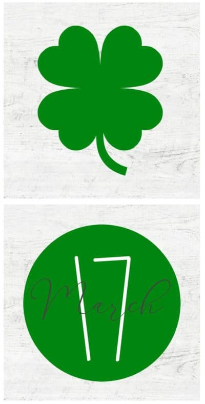 shamrock and March 17 5 inch printables
