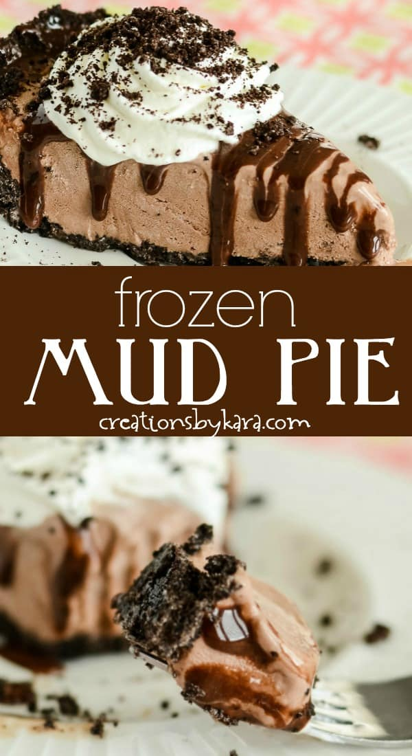 frozen mud pie recipe collage