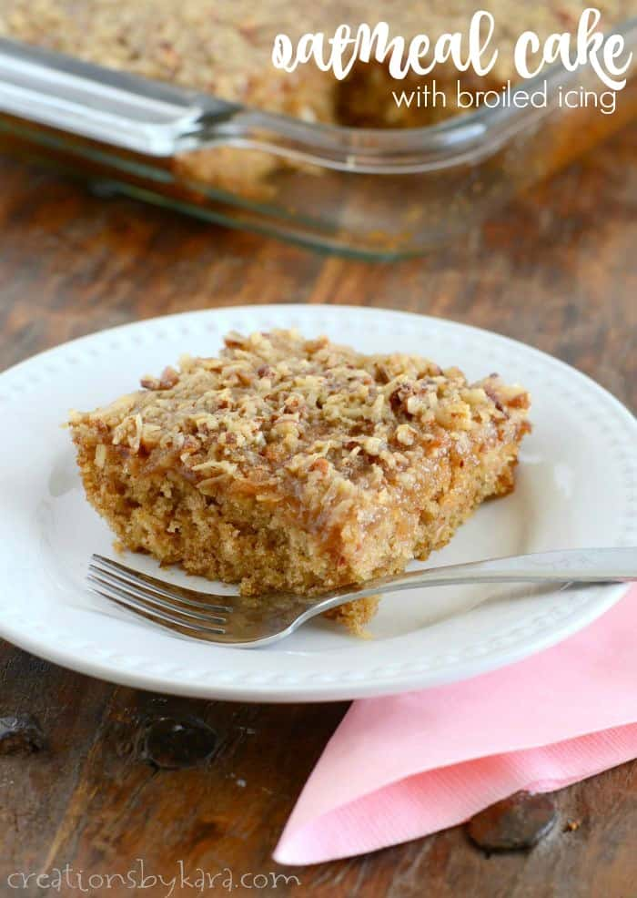 oatmeal cake with broiled icing title photo