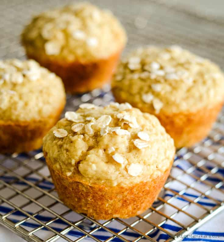 muffins sprinkled with oats