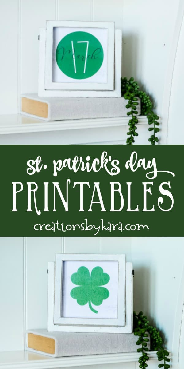St. Patrick's Day Farmhouse Printables collage