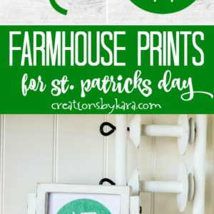 collage-farmhouse printables for st patrick's day