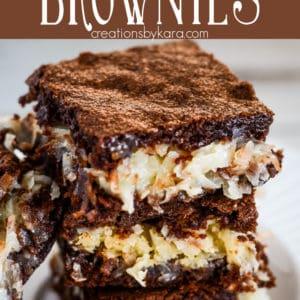 coconut brownies pinterest pin