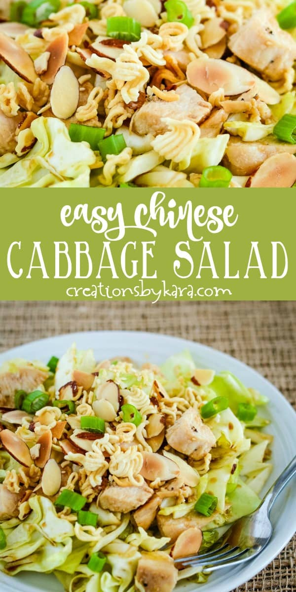 easy chinese cabbage salad recipe collage