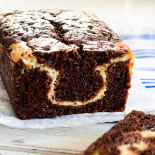 chocolate cream cheese bread with zucchini