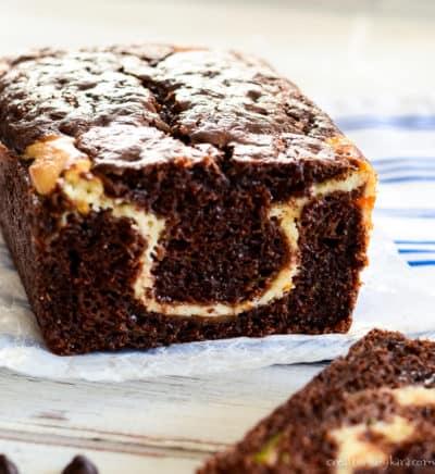 chocolate cream cheese bread with zucchini