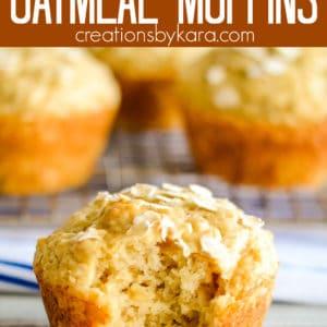 brown sugar oatmeal muffins pinterest pin