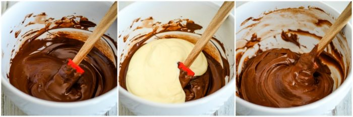 chocolate batter for cheesecake