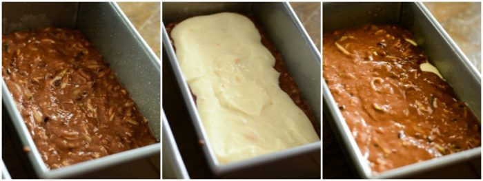 how to make cream cheese filled zucchini bread