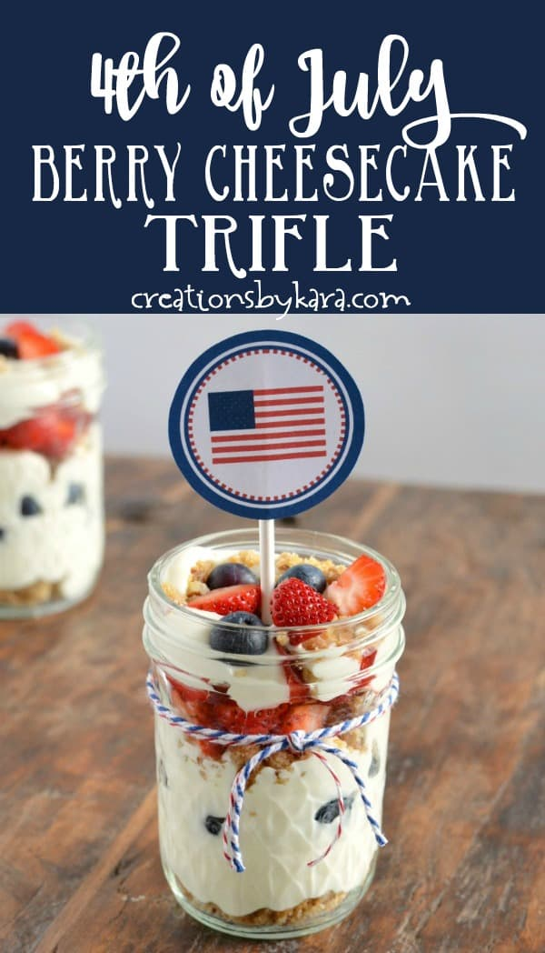 mini trifles for the fourth of july