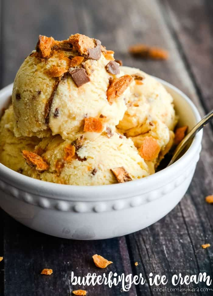 homemade butterfinger ice cream title photo
