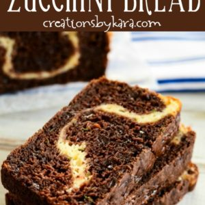 chocolate zucchini bread with cream cheese pinterest pin