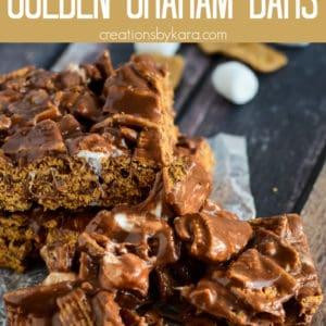ooey gooey golden graham bars Pinterest Pin