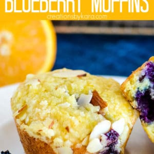 blueberry orange muffins pinterest pin