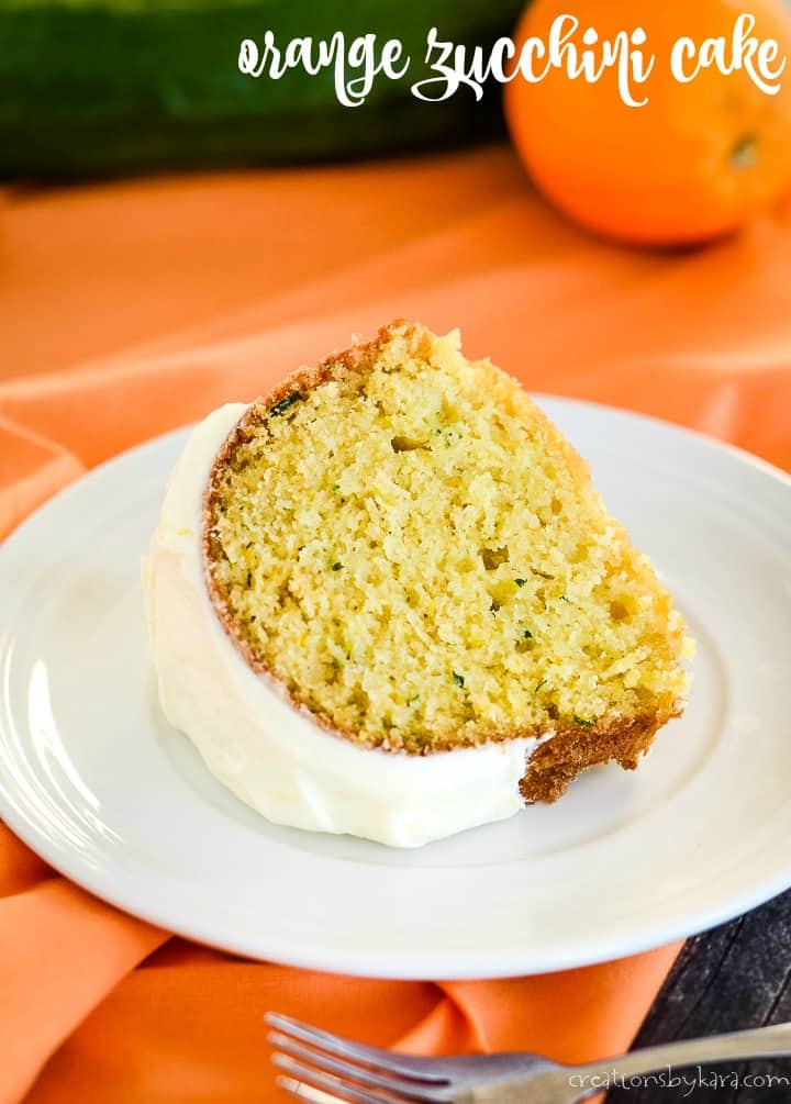 orange zucchini cake with orange cream cheese frosting