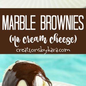 marble brownies (AKA swirl brownies) recipe collage