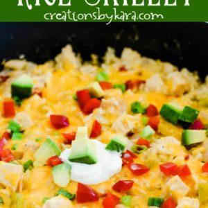 skillet chicken fajita rice recipe