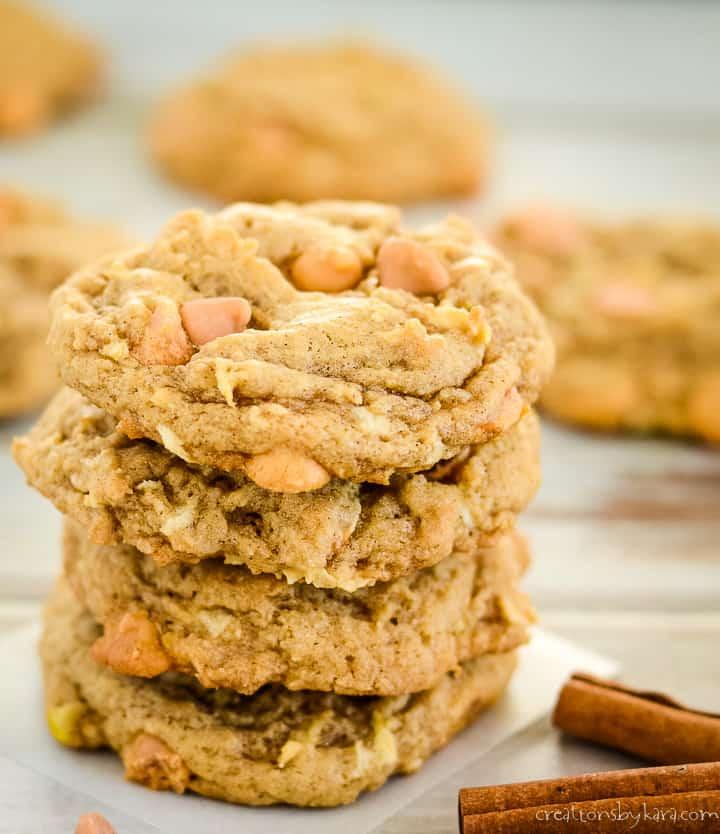 stack of apple cookies