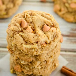 apple spice cookies with butterscotch chips