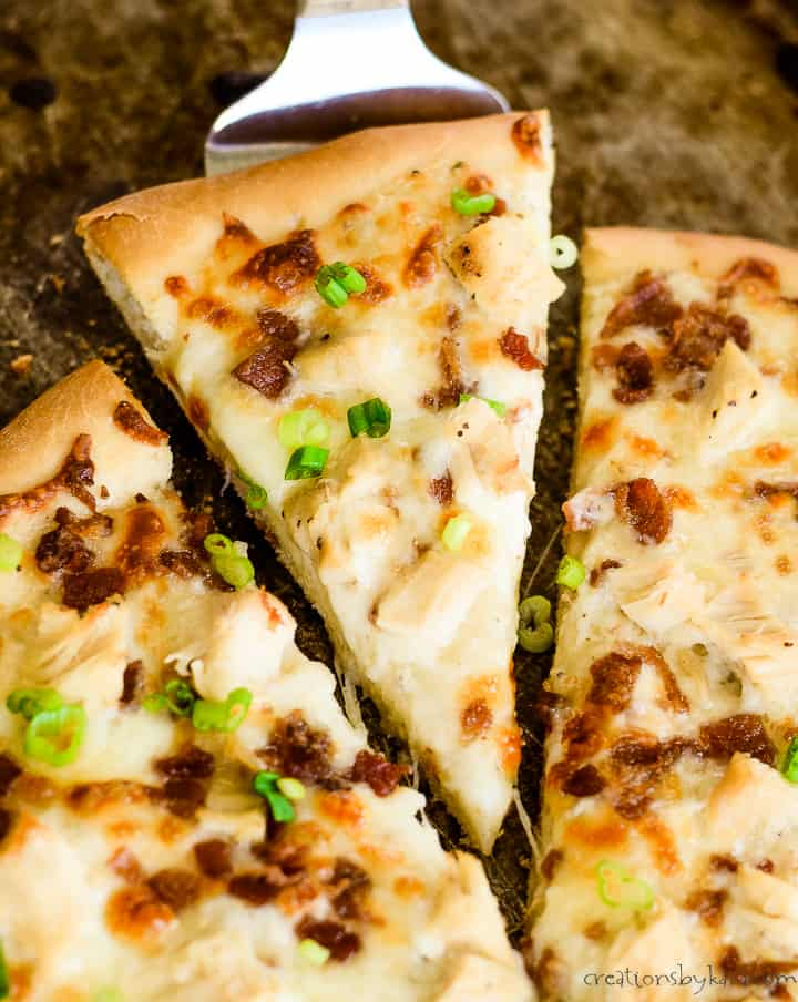 chicken bacon pizza with ranch