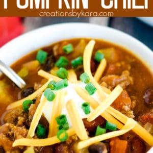 meaty pumpkin chili recipe pinterest pin