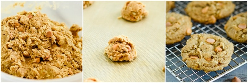 apple spice cookies with butterscotch
