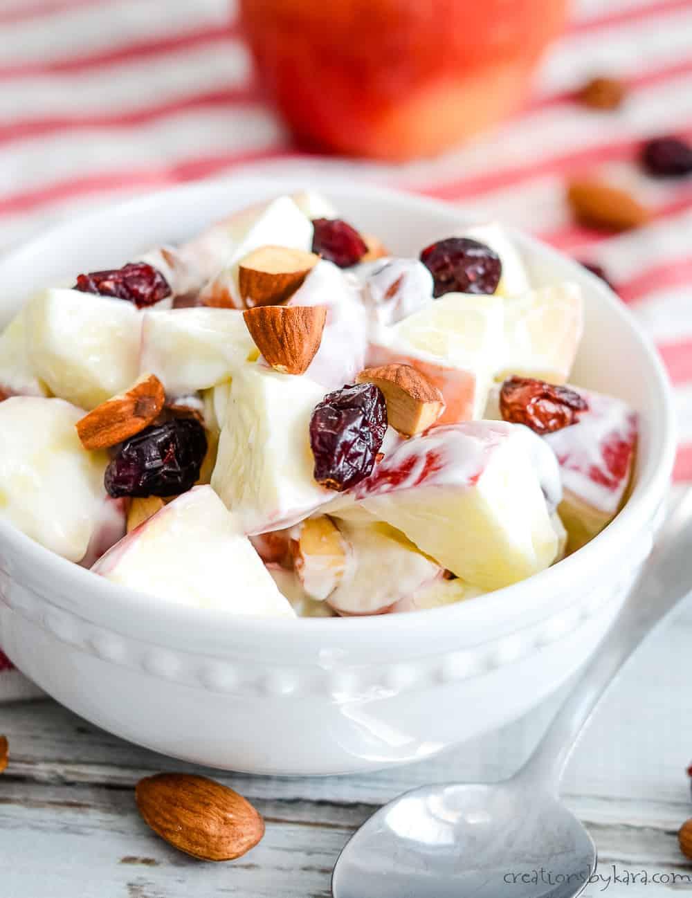 creamy apple fruit salad